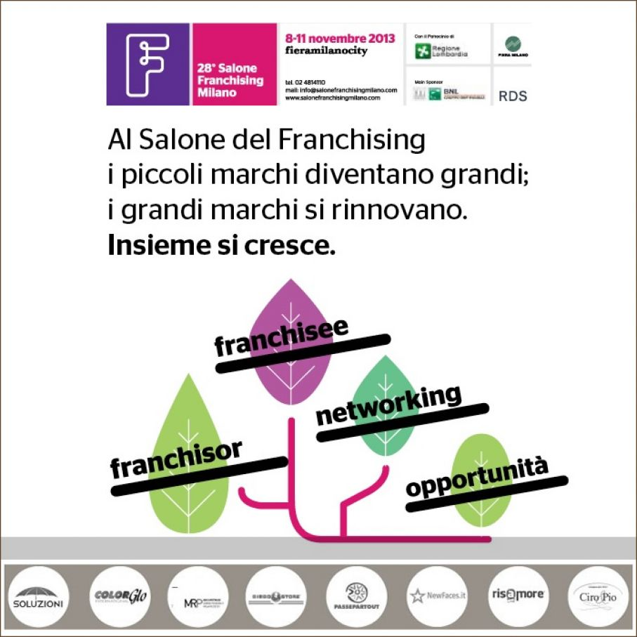 Ciro & Pio present at the exhibition Salone del Franchising Milano 2013
