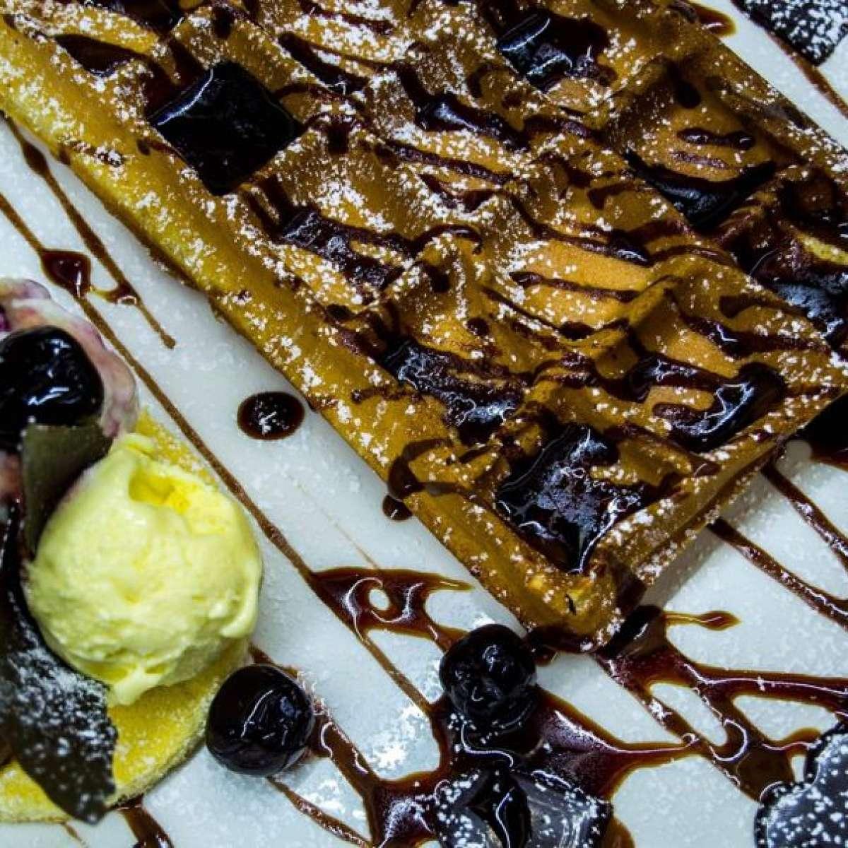 Ispirazioni nordiche, waffle e gelato!